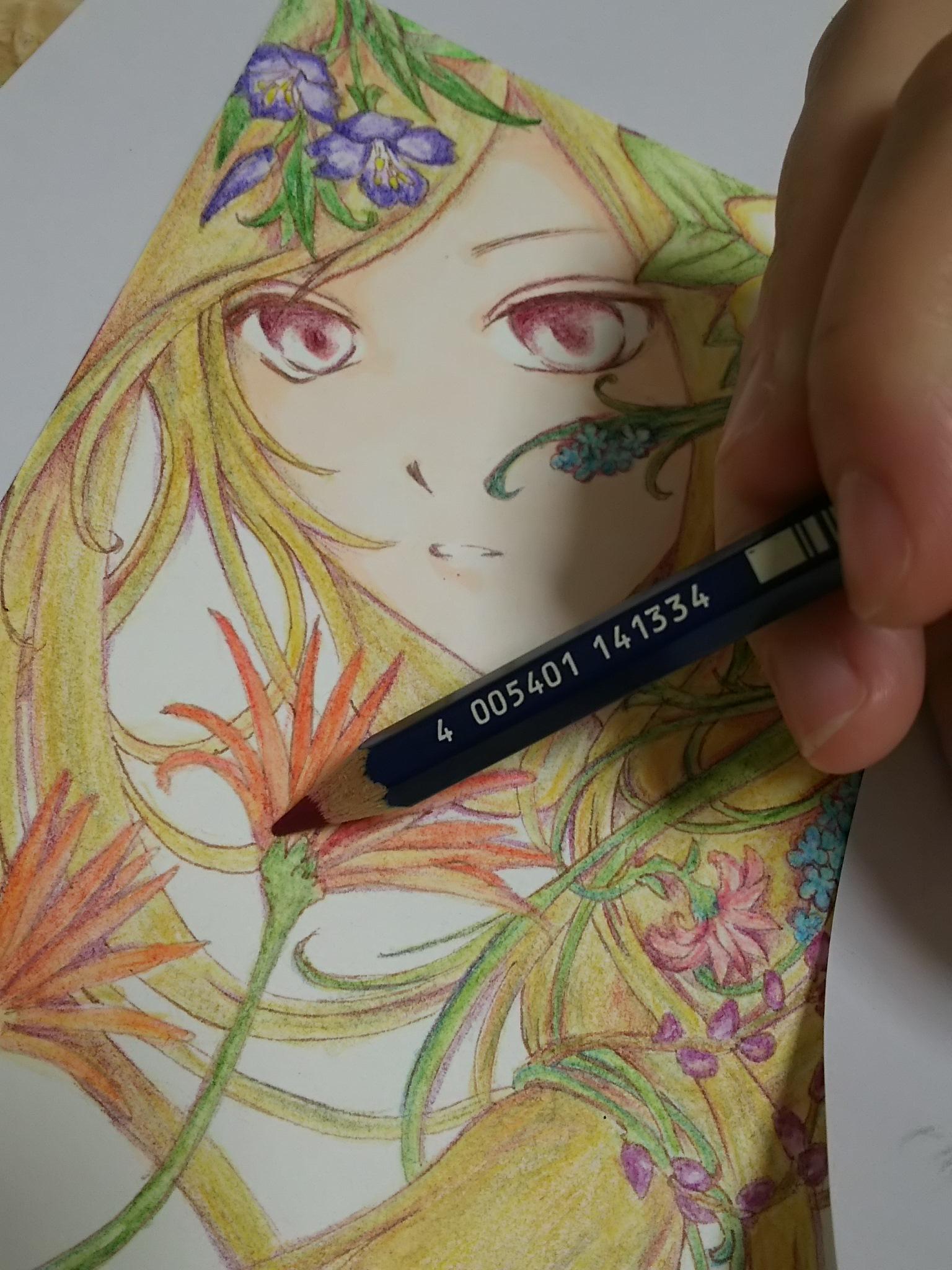 水彩色鉛筆イラストメイキング~水彩色鉛筆・コピック・パステル~