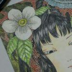 水彩色鉛筆メイキング【三日目】*背景と細かい部分を塗って完成