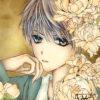 【フリーイラスト】花と少年